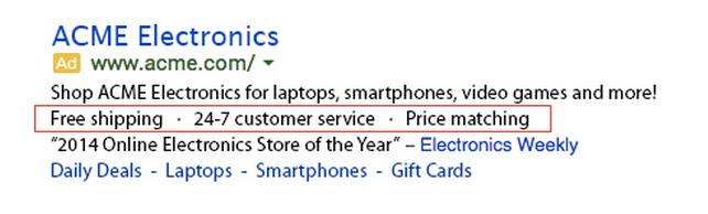 Google AdWords reklāmām jauns paplašinājums